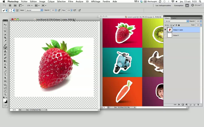 Tuto effet d coupage ludique et dynamique avec photoshop for Effet miroir photoshop cs5
