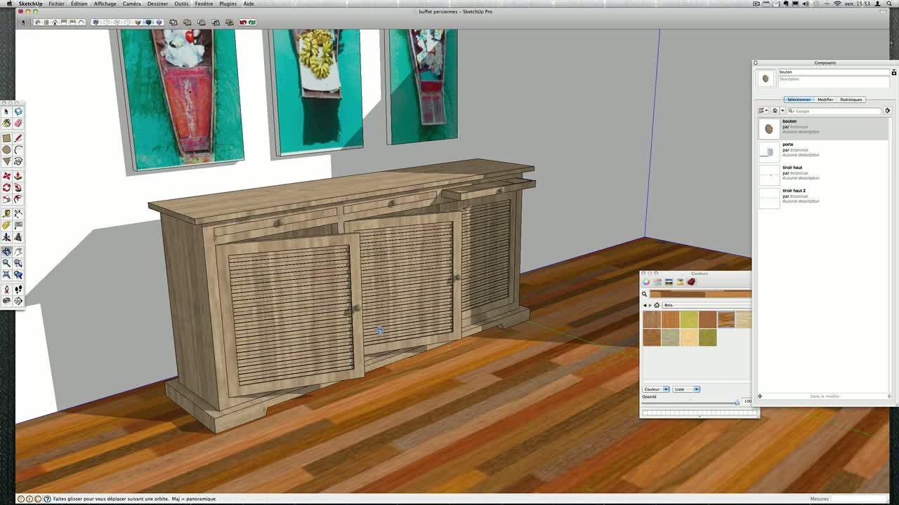 tuto mod liser un meuble sur mesure avec sketchup 8 sur. Black Bedroom Furniture Sets. Home Design Ideas