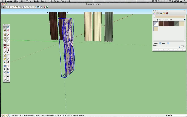 Tuto des rideaux en 3d avec sketchup 8 sur for Outil miroir sketchup