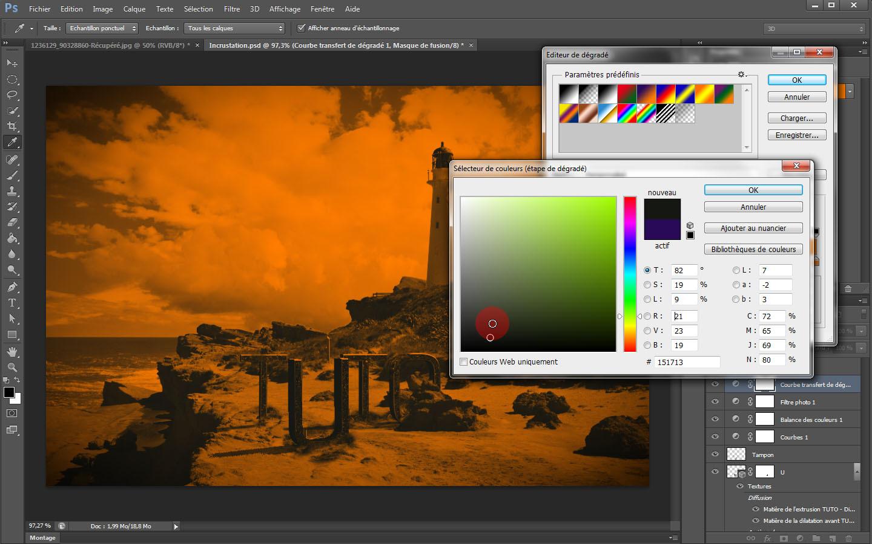tuto atelier 3d incruster un texte 3d dans un paysage avec photoshop cs6 sur. Black Bedroom Furniture Sets. Home Design Ideas