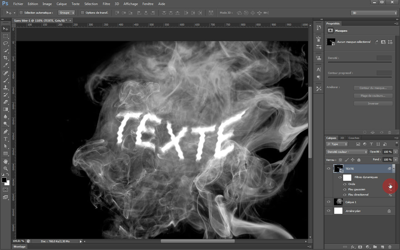 tuto incruster un texte dans une photo de fum u00e9e avec photoshop cs6 sur tuto com