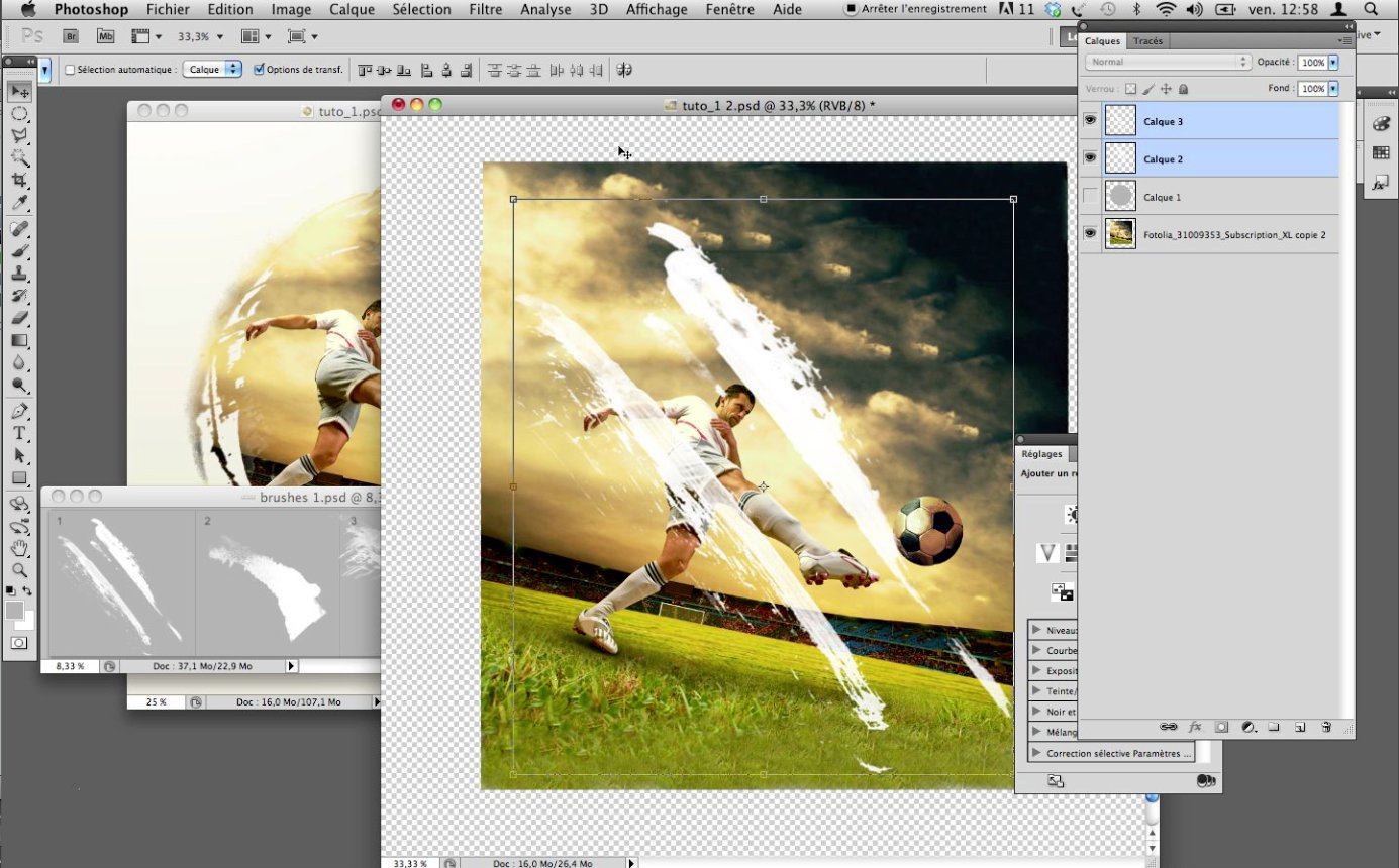 Tuto effet photo incrustation stylis e avec photoshop cs5 for Effet miroir photoshop cs5
