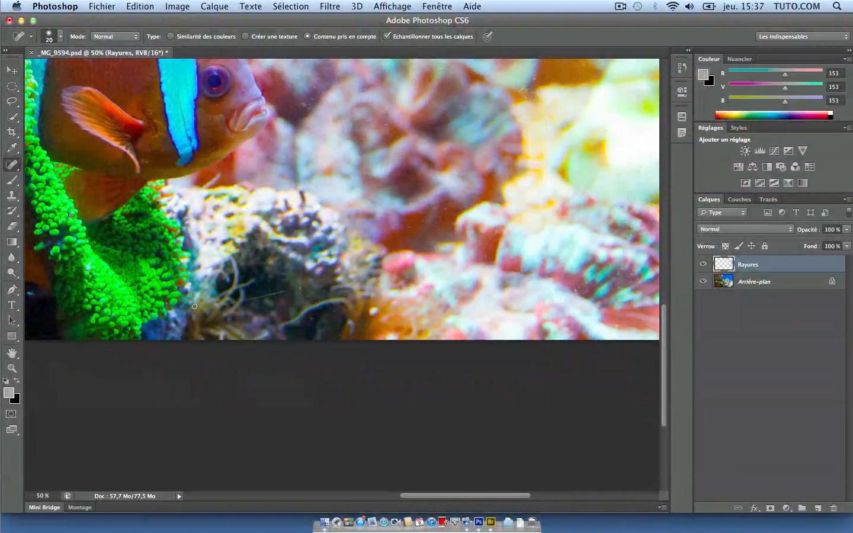 tuto retouche de photos sous marines aquarium avec photoshop cs6 sur. Black Bedroom Furniture Sets. Home Design Ideas