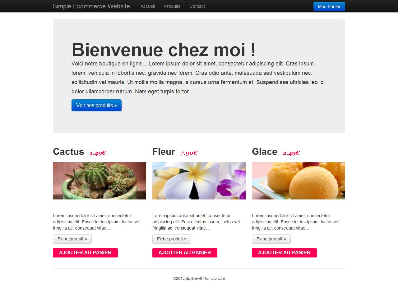 Tuto cr er une mini boutique ecommerce avec wordpress for Site de vente de plantes en ligne