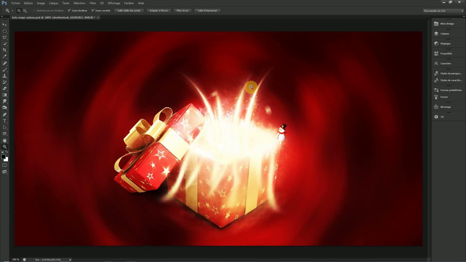 Tuto effet de rayons lumineux avec photoshop cs6 sur for Effet miroir photoshop cs5