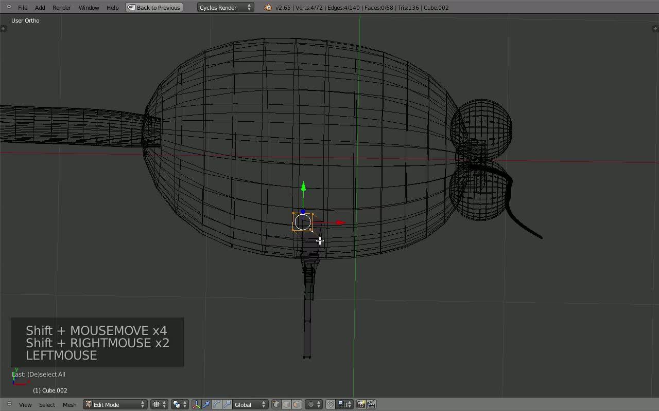 Blender modelisation avec ipo