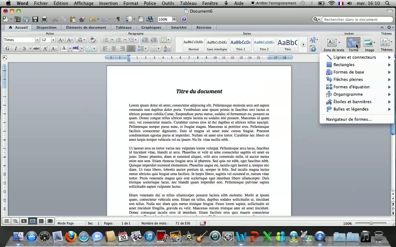 tuto les bases de word 2011 sur mac avec word 2011 sur
