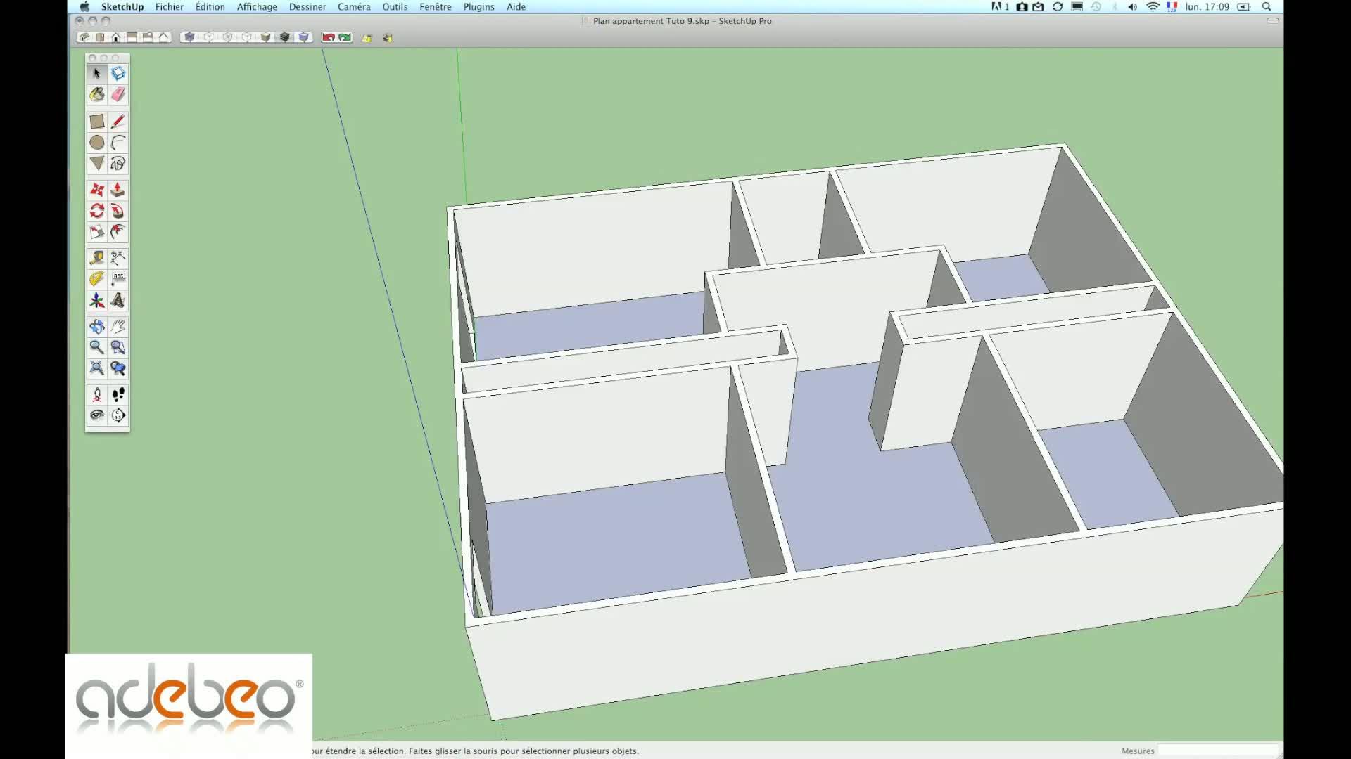 Tuto premiers pas sur sketchup avec sketchup sur for Jardin 3d mac