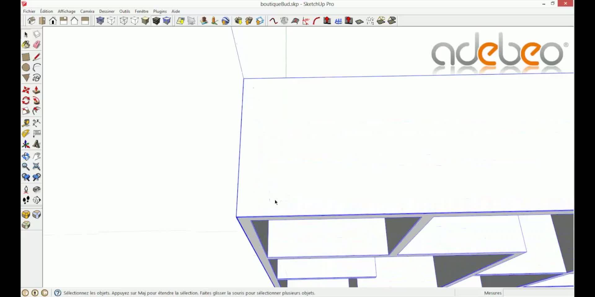 tuto sketchup mod liser un magasin partie 1 avec sketchup 8 sur. Black Bedroom Furniture Sets. Home Design Ideas