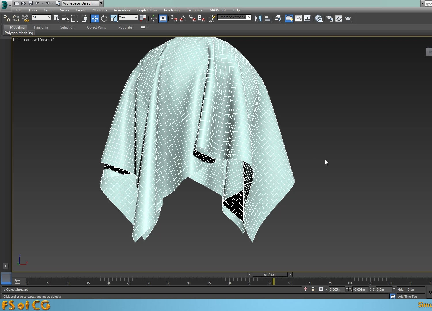 3ds max L Cloth Simulation Not working