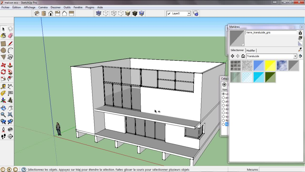 tuto cr er une maison sur sketchup avec sketchup 8 sur. Black Bedroom Furniture Sets. Home Design Ideas
