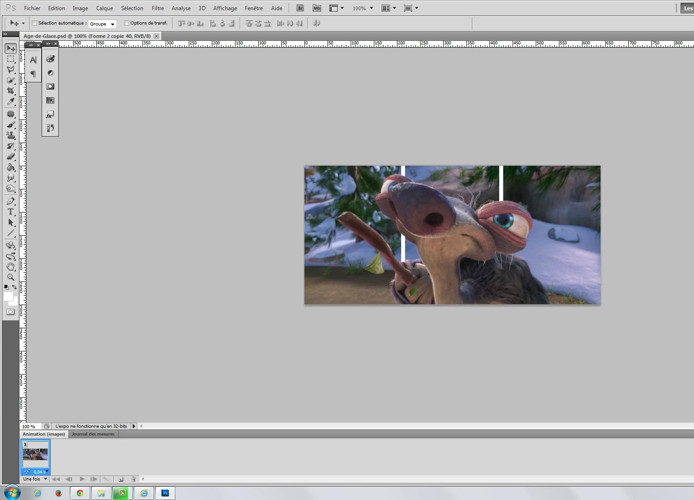 Tuto cr er vos gifs avec effet 3d avec photoshop cs5 sur for Effet miroir photoshop cs5