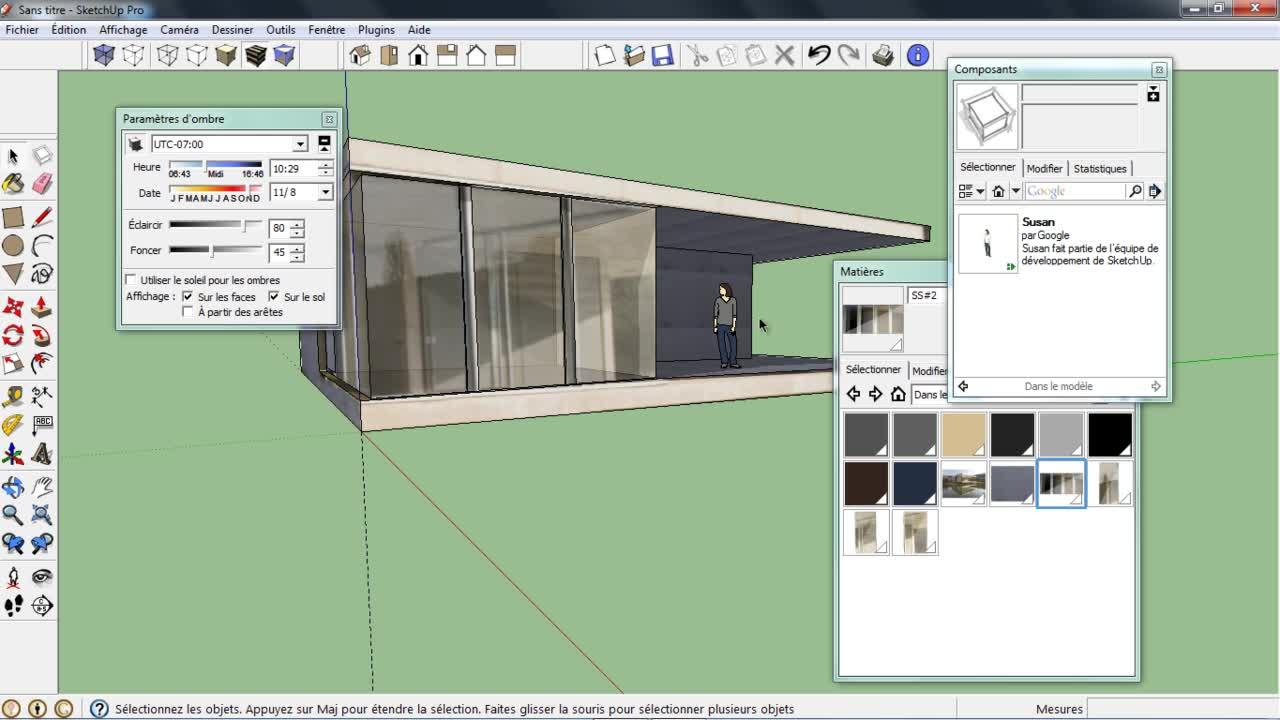 Tuto mod liser avec le mode photo adapt e avec sketchup 8 for Tuto architecte 3d