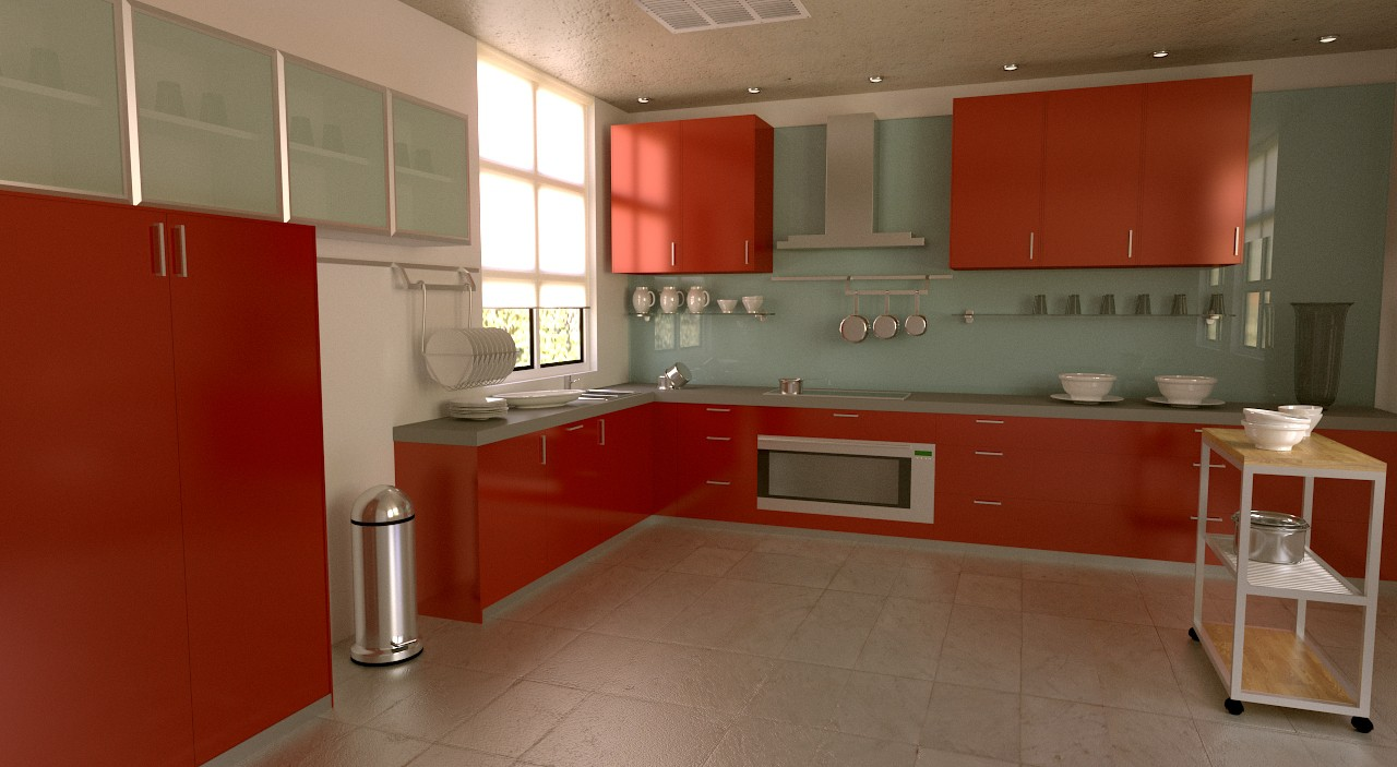Tuto blender mod lisation d 39 une cuisine quip e avec for Modelisation cuisine 3d