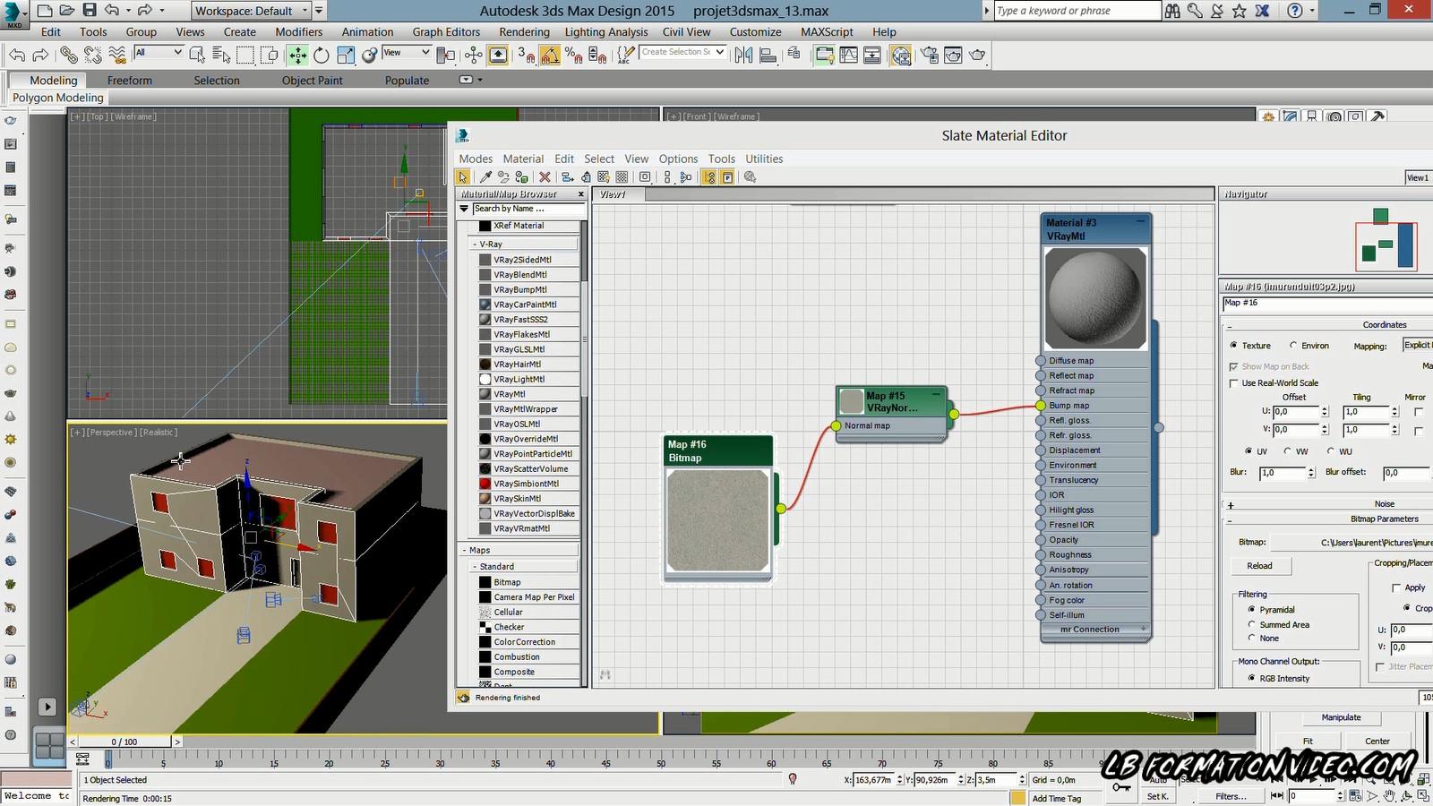 Tuto mod lisation 3d architecturale et rendu vray 3 0 dans for Porte 3ds max