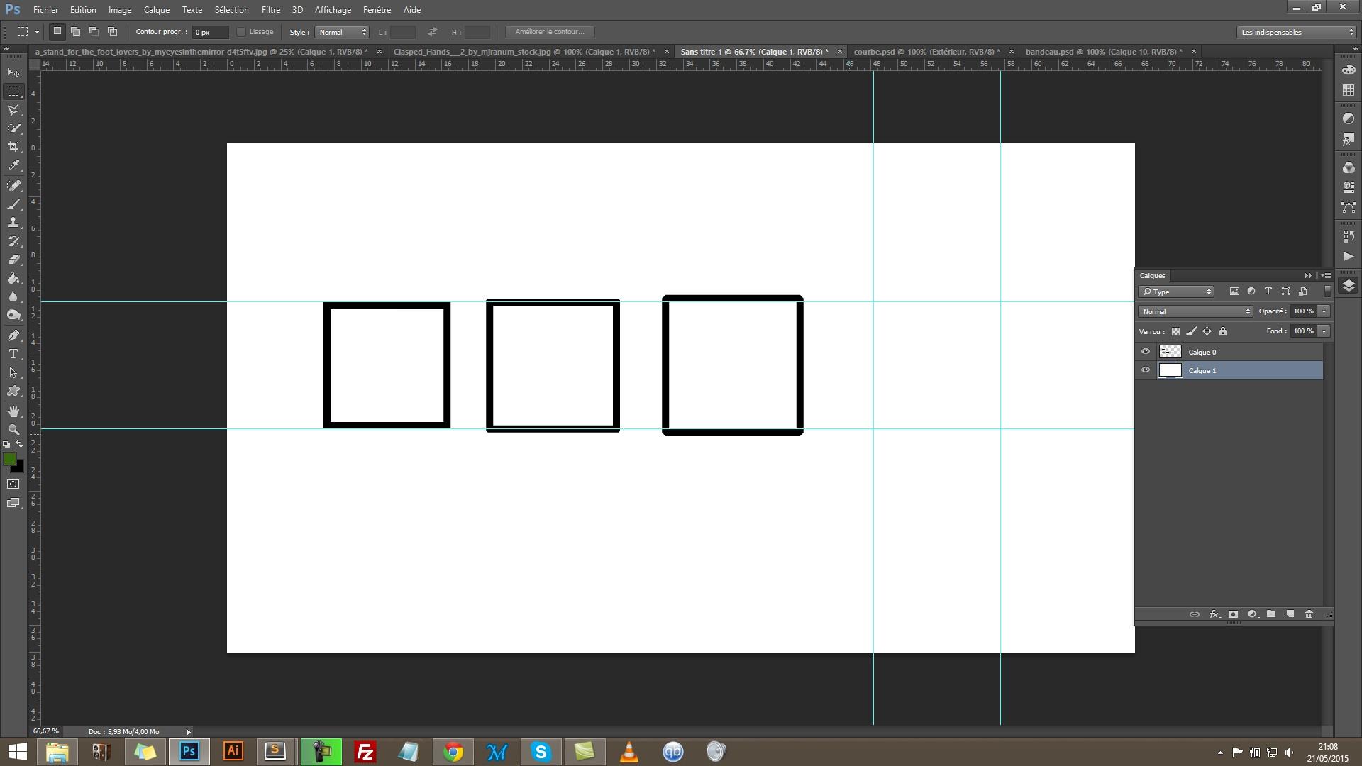 Tuto gratuit photoshop outil contours et cadre avec for Outil miroir photoshop