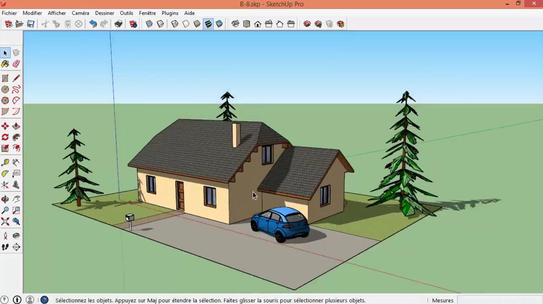 au programme de ce tuto gratuit sketchup dessinser sa maison en 3d - Application Pour Dessiner Sa Maison