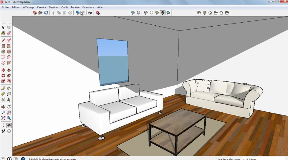 Chambre a coucher sketchup for Modele maison sketchup