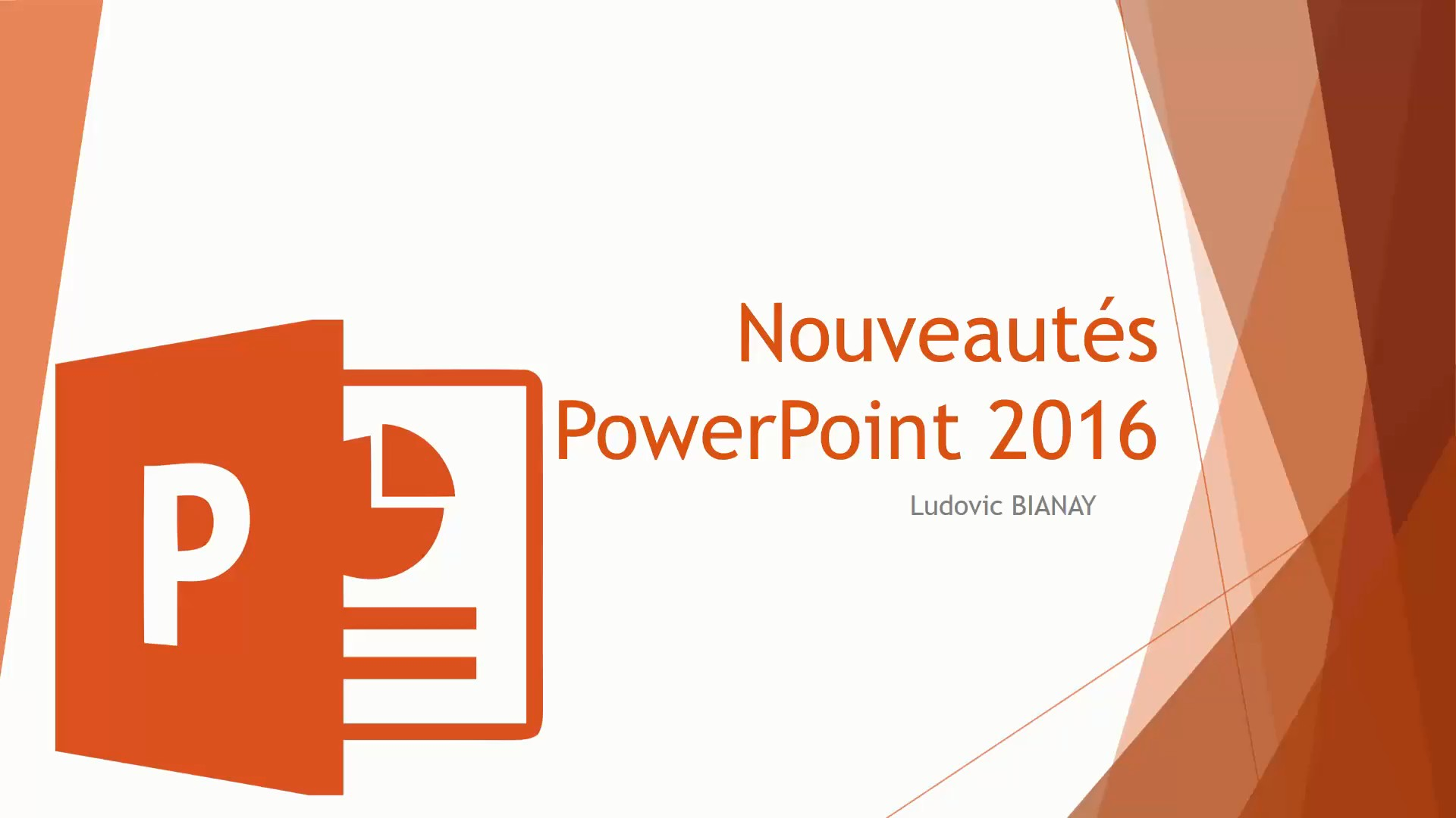 TUTO Nouveautés PowerPoint 2016 avec PowerPoint 2016 sur Tuto.com