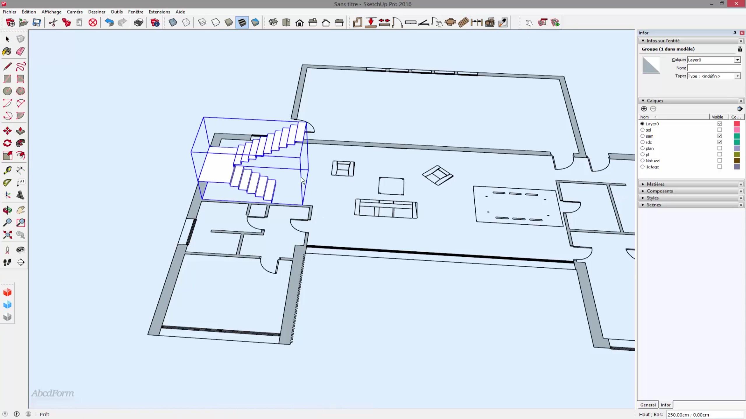 Tuto cr er une maison 3d complexe partir de son plan en for Creer plan maison 3d