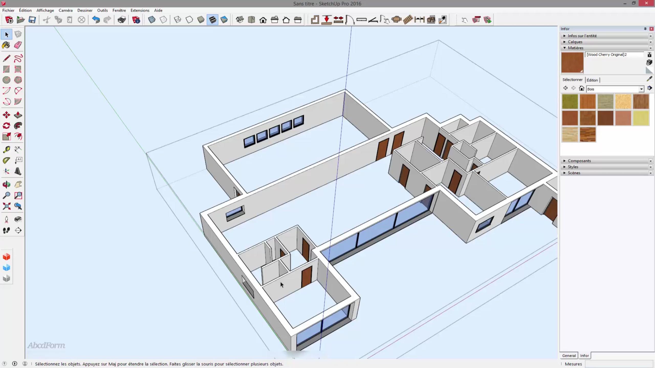 Tuto cr er une maison 3d complexe partir de son plan en for Creer des plans de maison