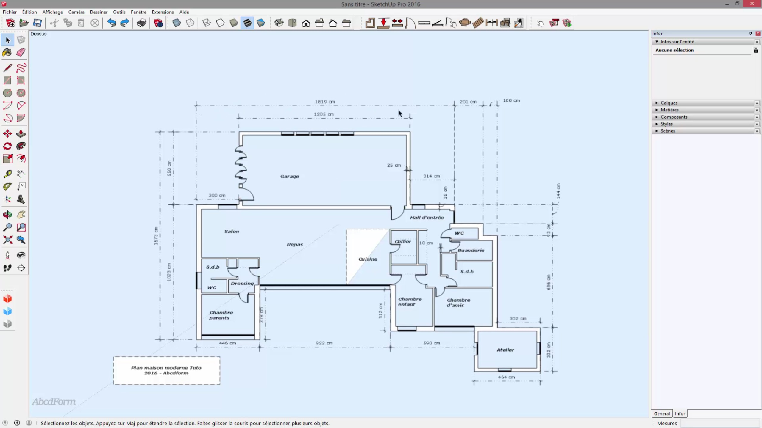 Elevation D Un Plan : Tuto créer une maison d complexe à partir de son plan en