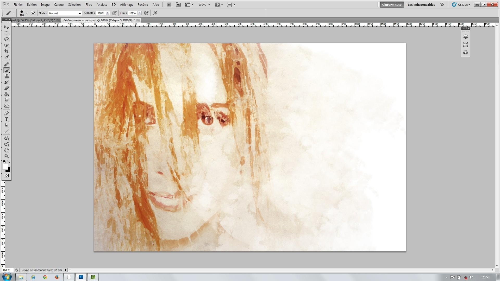 Tuto pack artistique photoshop vol 2 aquarelle express effet de craie et p - Peinture effet relief ...