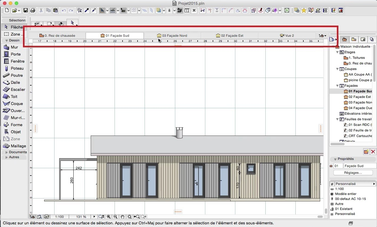Tuto archicad 19 formation initiation avec archicad 19 for Un cartouche architecture