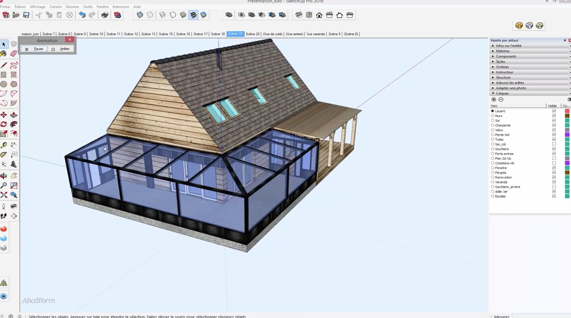 Tuto simuler la r novation d 39 une maison en 3d sous for Table 3d dessin