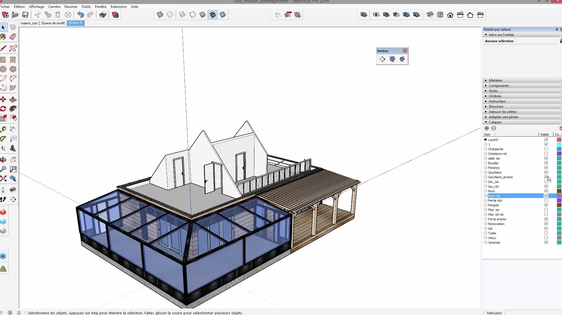 tuto sketchup maison ventana blog. Black Bedroom Furniture Sets. Home Design Ideas