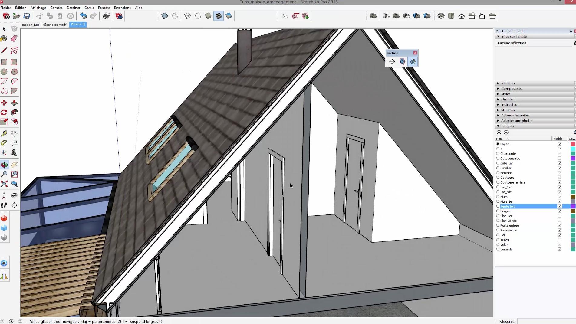 Tuto sketchup am nager vos combles avec sketchup 2016 for Architecte 3d combles