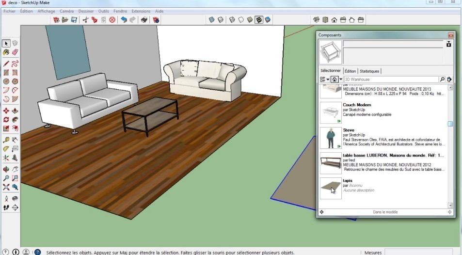 tuto bundle sketchup et twilight render avec sketchup 2015. Black Bedroom Furniture Sets. Home Design Ideas