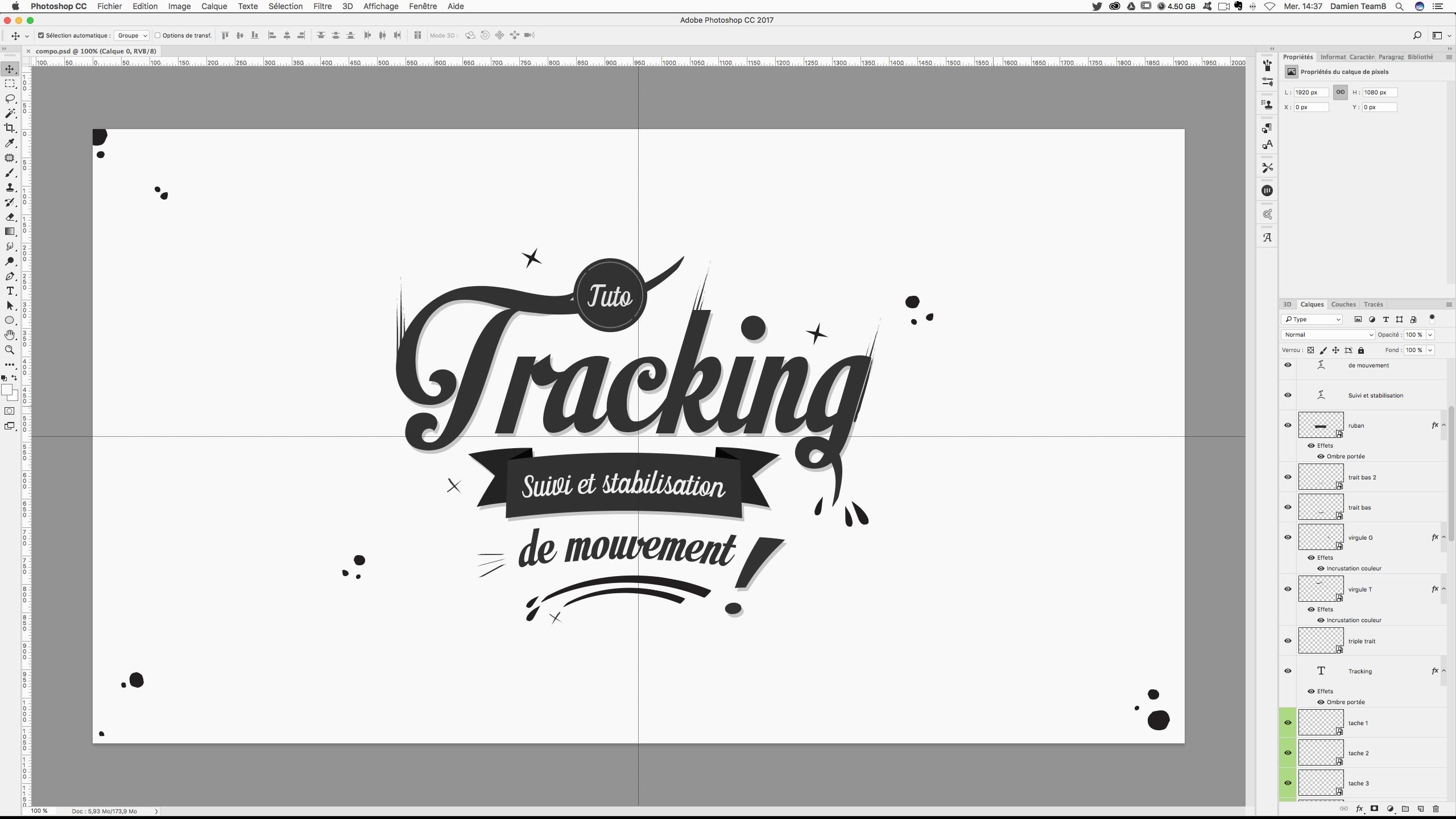 tuto tracking 2d en motion design avec des typographies et