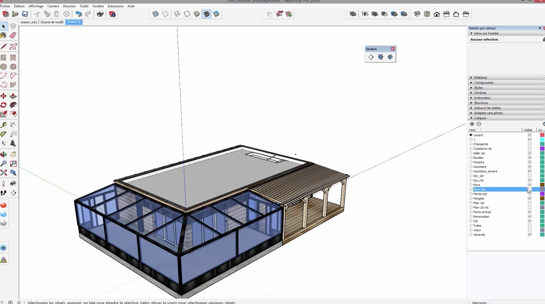 Tuto formation compl te sur la r novation d 39 une maison en for Architecte 3d ou sketchup