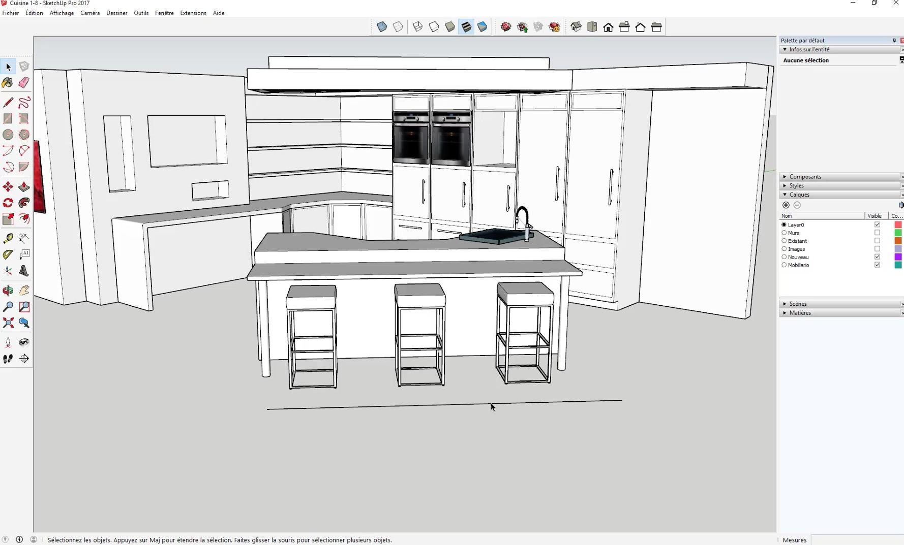 Tuto r aliser sa cuisine dans sketchup formation for Realiser sa cuisine en ligne
