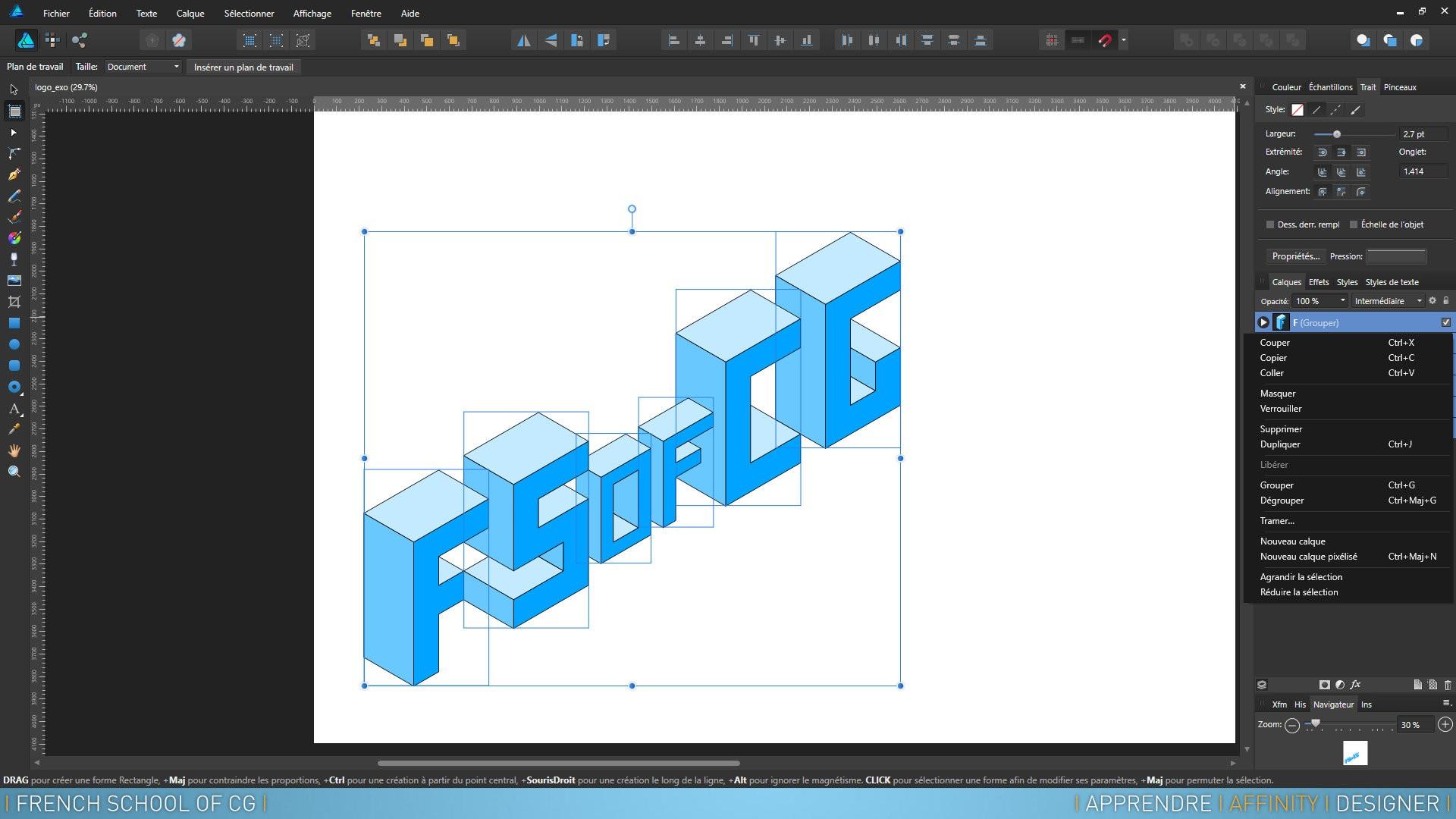 Tuto Apprendre Affinity Designer La Formation Complète Avec Affinity Designer Sur Tutocom