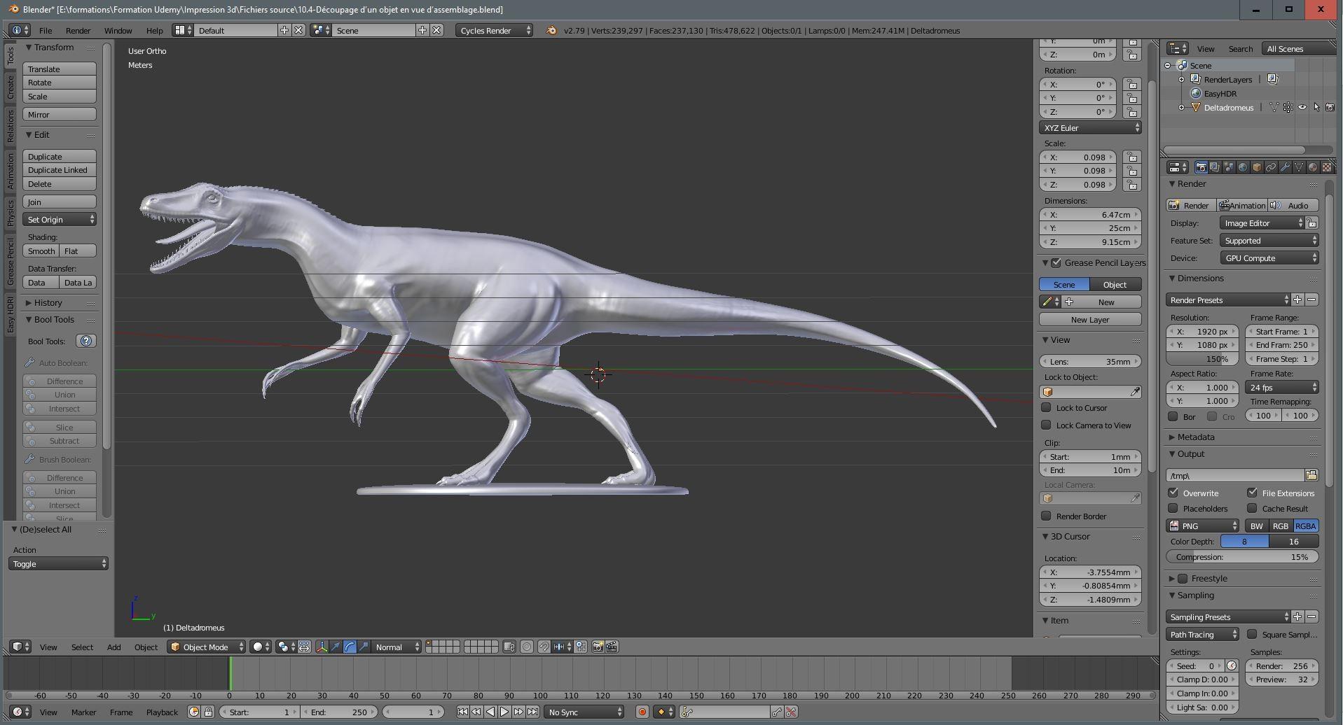4e547afa162 TUTO Maîtrisez l Impression 3D dans Blender avec Blender 2.7 sur ...