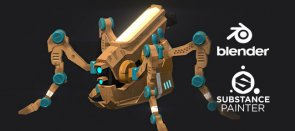 Tuto Blender : Texturing du drone insecte Substance Painter