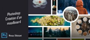 Tuto Gratuit - Photoshop : Création d'un template de Moodboard Photoshop