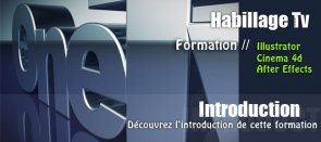 Tuto Introduction à l'habillage Tv Cinema 4D