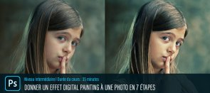 Tuto Donner un effet Digital Painting à vos photos à l'aide de Photoshop Photoshop
