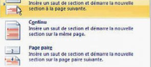 Tuto Explication des sauts de section Word