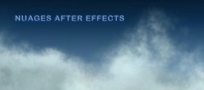 Tuto Nuage After Effect After Effects