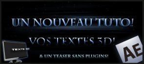Tuto Effets de texte 3D et mini teaser! After Effects