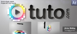 Tuto Assemblage d'un logo ou texte 3D After Effects