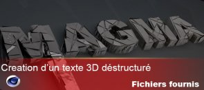 Tuto Creation d'un texte 3D destructuré Cinema 4D