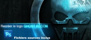 Tuto Recréer le logo de GHOST RECON Photoshop