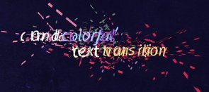 Tuto Transition déstructurée entre vos textes After Effects