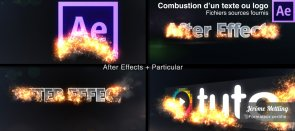 Tuto Combustion d'un texte ou logo avec Particular After Effects