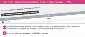 Tuto Créer une playlist administrable pour le player audio HTML5 Dreamweaver